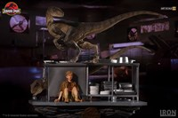 Velociraptors in the Kitchen Diorama